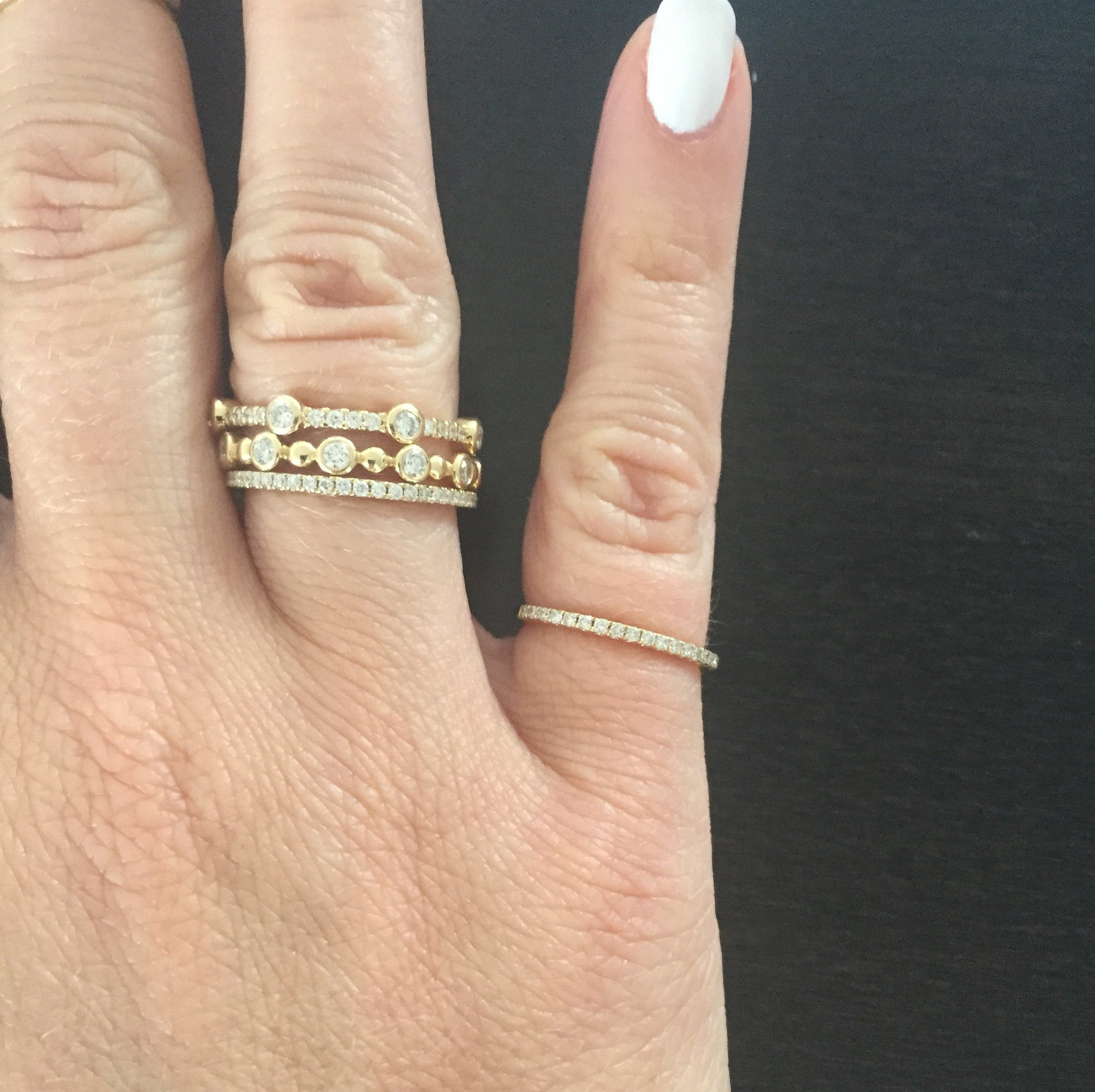 Pave Pinky or Midi Ring (0.15 tcw)