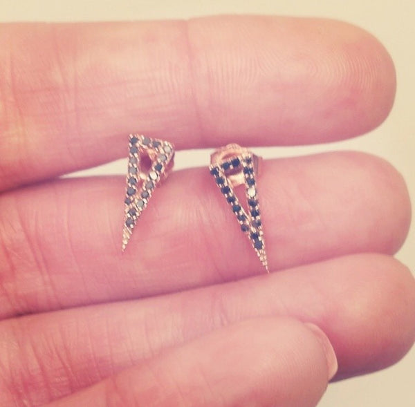 Triangle Spike Earrings - Earrings - frannieb