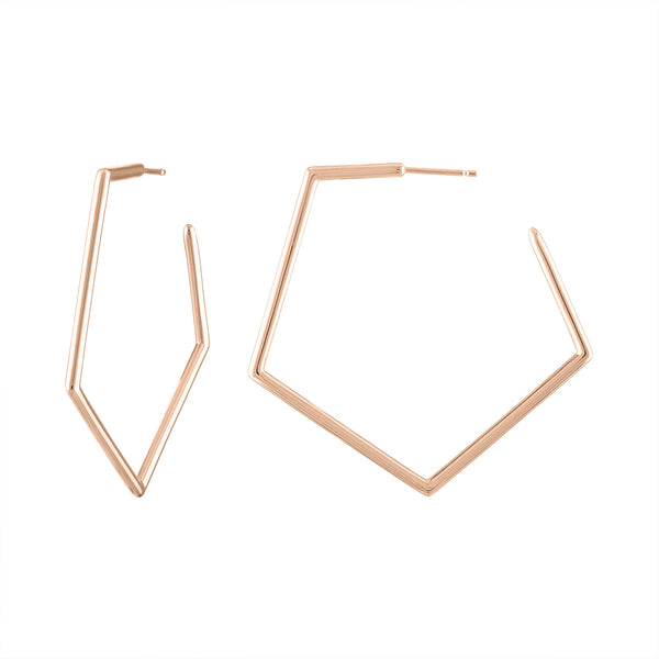 Signature Pentagon Hoop Earrings