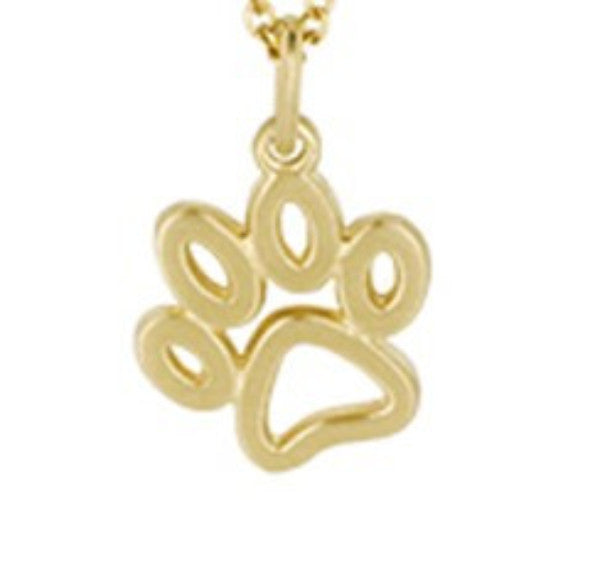 Gold Paw Charm