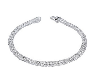 Domed Pave Diamond Bracelet