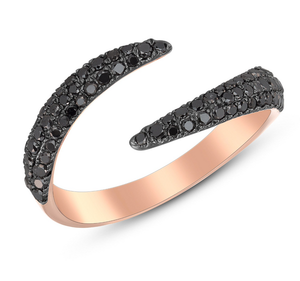 Black Diamond Claw Ring - Ring - frannieb