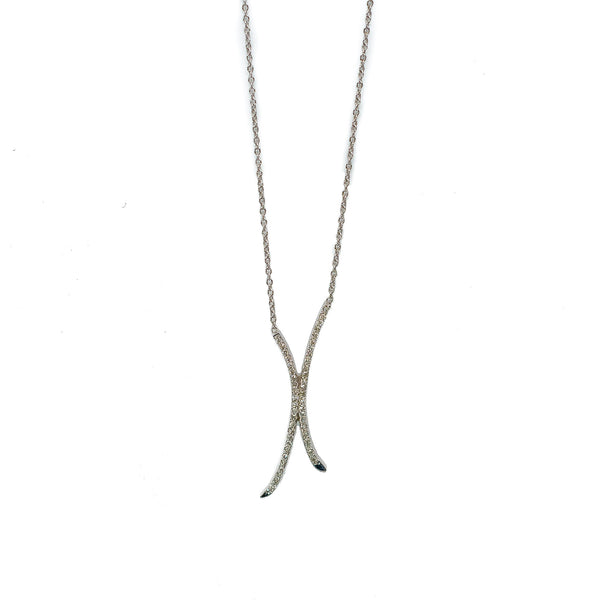 "Diamond ""X"" Necklace"