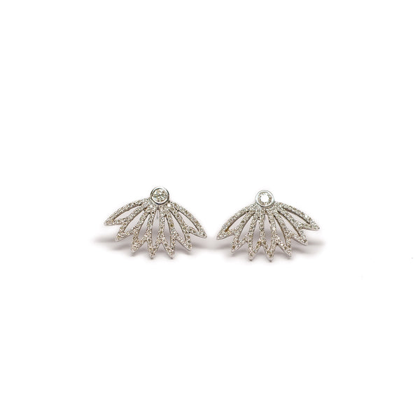 Diamond Flower Earrings - Earrings - frannieb