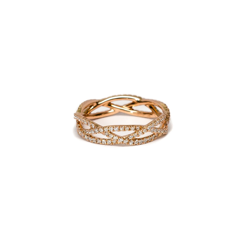 Multi Criss Cross and Diamond Ring - Ring - frannieb