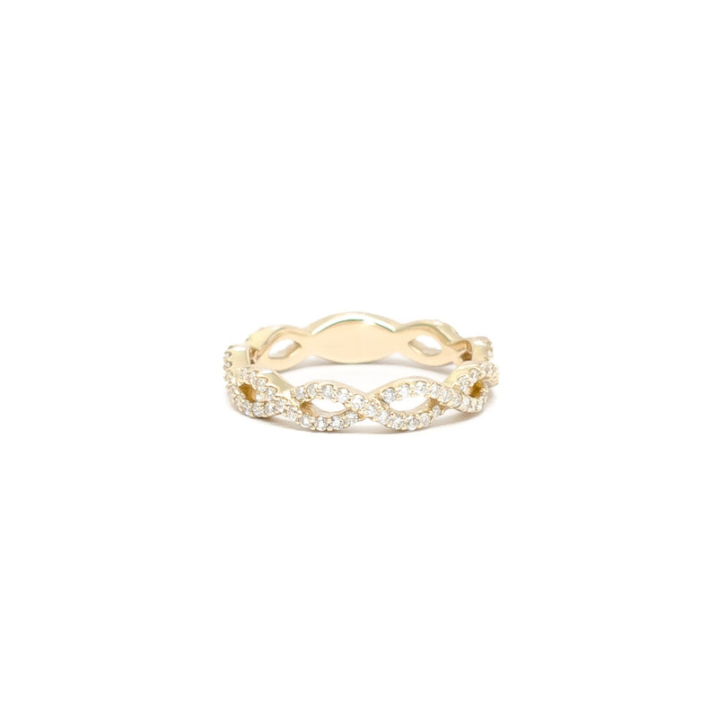 Wavy Outline Diamond Ring - Ring - frannieb