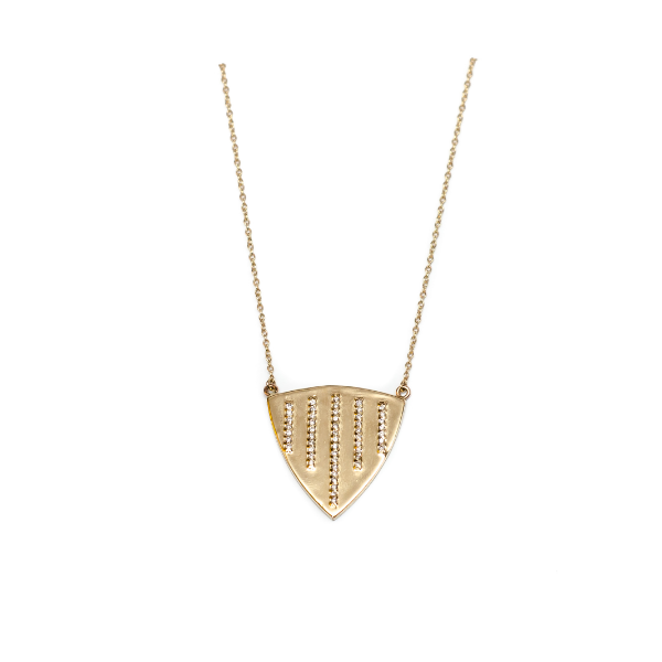 Rounded Triangle Necklace - Necklace - frannieb