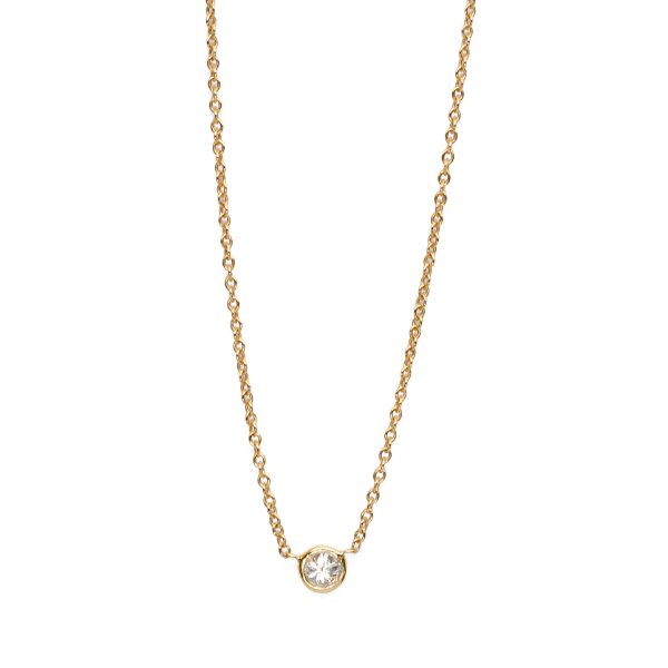 0.10 Diamond Solitaire Necklace - Necklace - frannieb