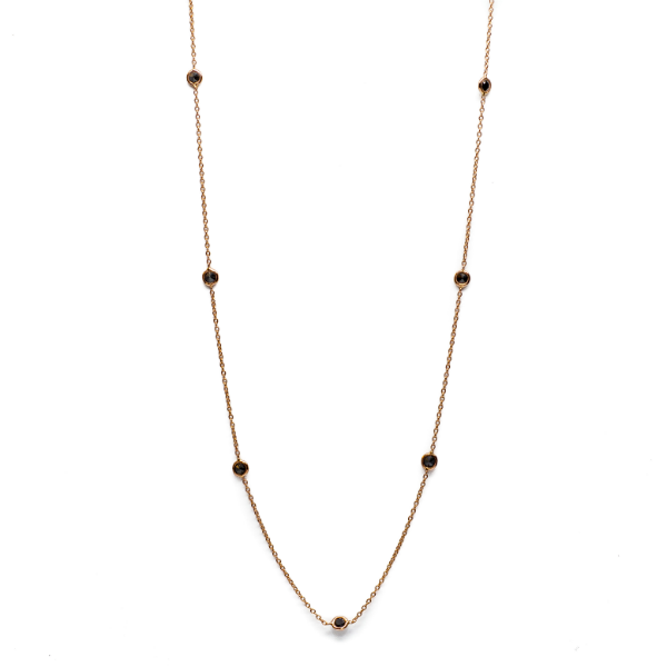 Black Diamond by the Yard Necklace