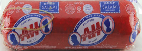 A & H ALL BEEF WIDE SALAMI 2 LB.