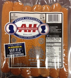 A & H All Beef Kosher Beer Flavored Hot Dogs