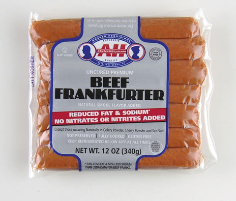 A & H No-Nitrate Added Kosher Hot Dogs