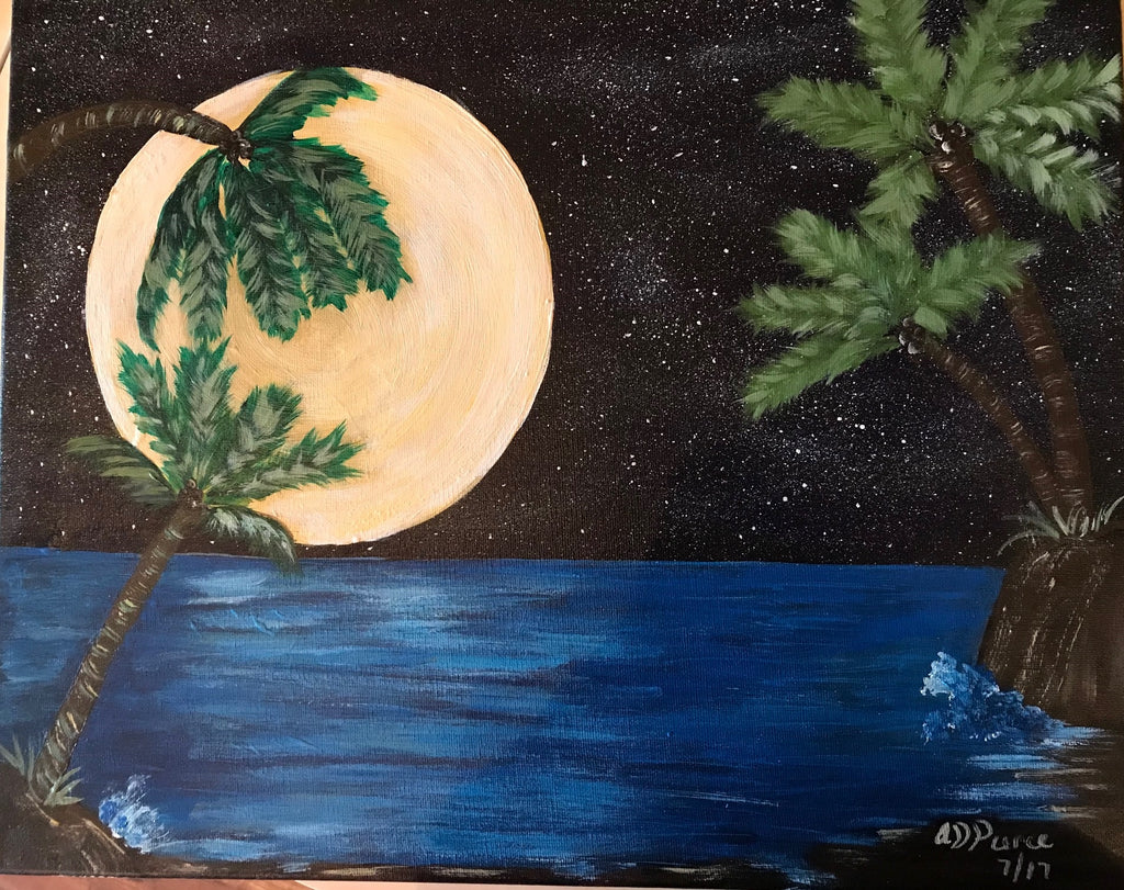 "Thur., Feb. 15, 7:00-9:30 ""Aloha"" Public Wine and Painting Class, Bozeman, MT"