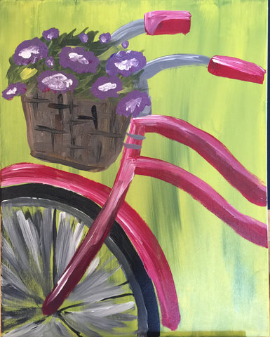 "Fri, Mar 24, 7:00-9:30 ""Bicycle"" Public Wine and Painting Class, Bozeman, MT"