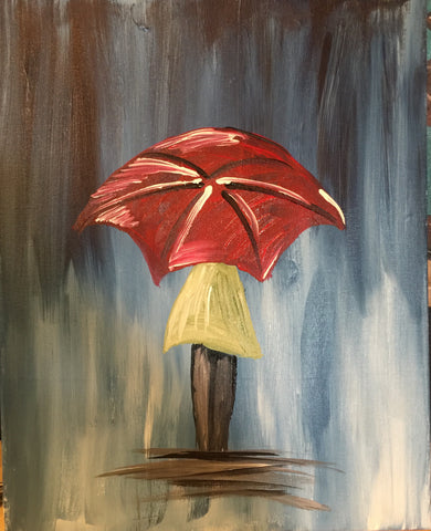 "Wed, Aug 9, 7:00-9:30 ""Day in the Rain"" Public Wine and Painting Class, Bozeman, MT"