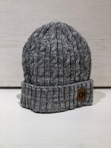 CR Beanie Fitted Knit w/ Leather Patch
