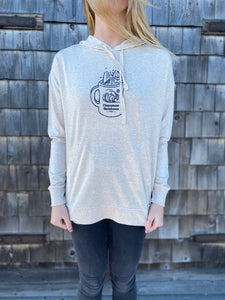 CR Surf Latte Hooded Long Sleeve