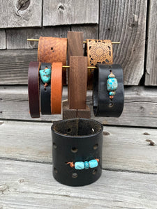 Merci Handmade Vintage Leather Bracelets