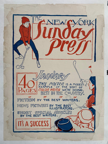 The New York Sunday Press - Poster Museum