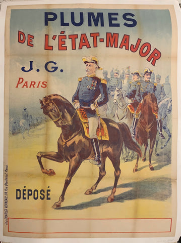 Turn of the Century poster of soldiers on horseback.