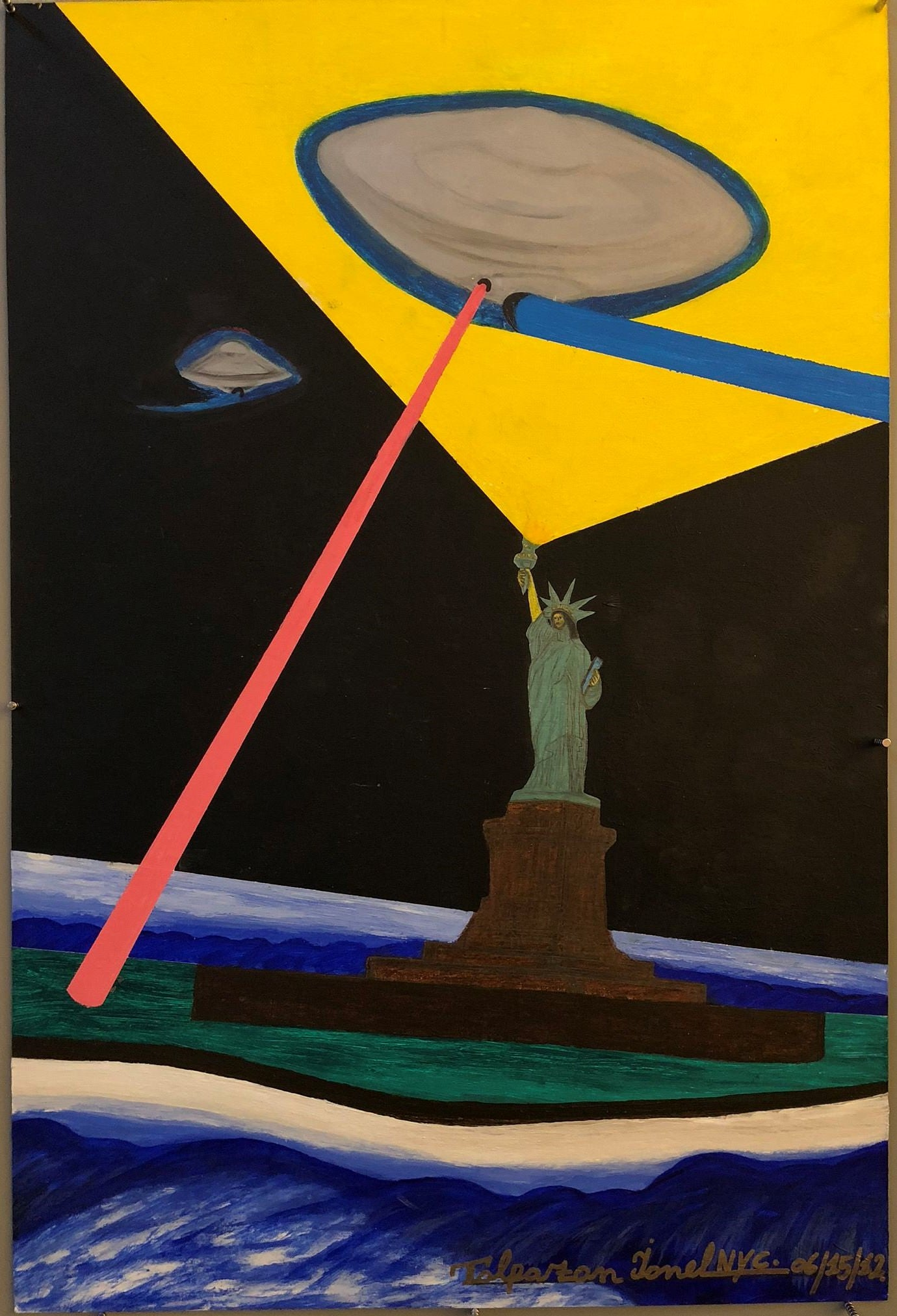 Ionel Talpazan - UFO flying over Statue of Liberty at Night