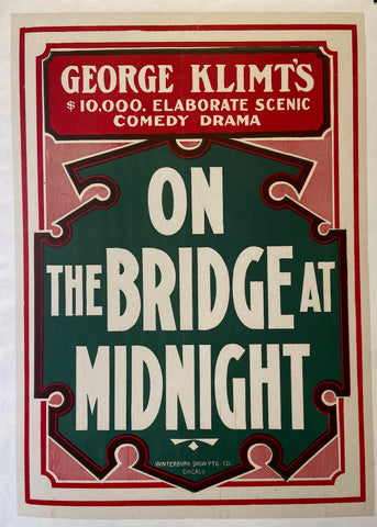 On the Bridge at Midnight Poster