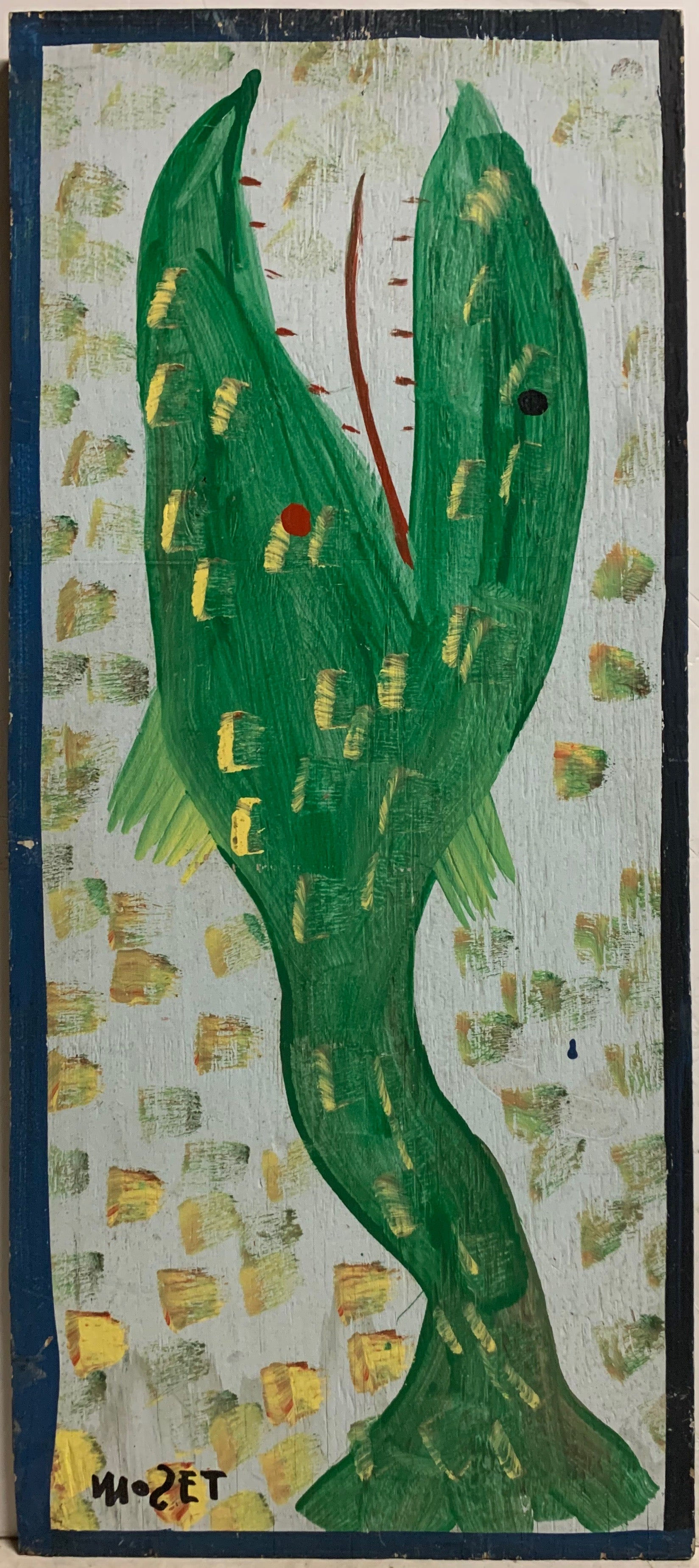 Green Fish Mose Tolliver Painting