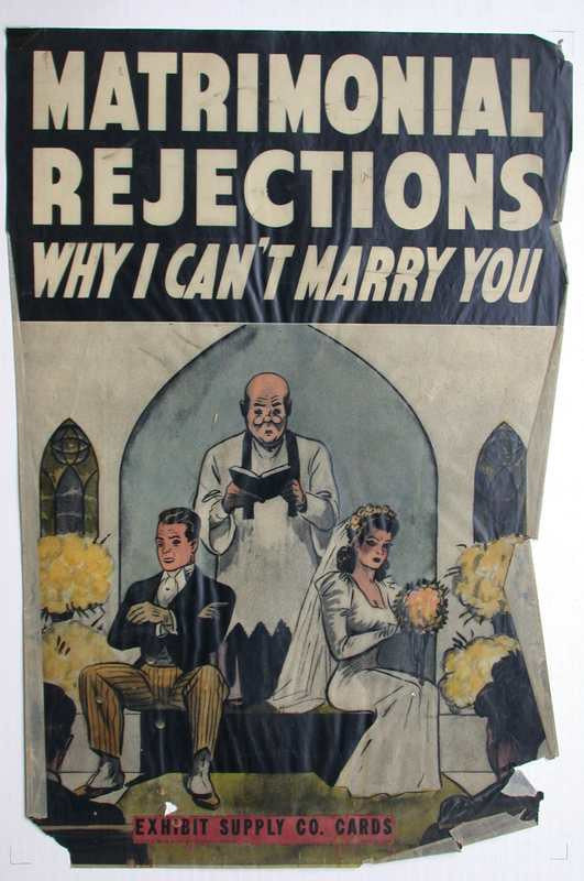 Exhibit Supply Co Cards Matrimonial Rejections Why I Can T Marry You