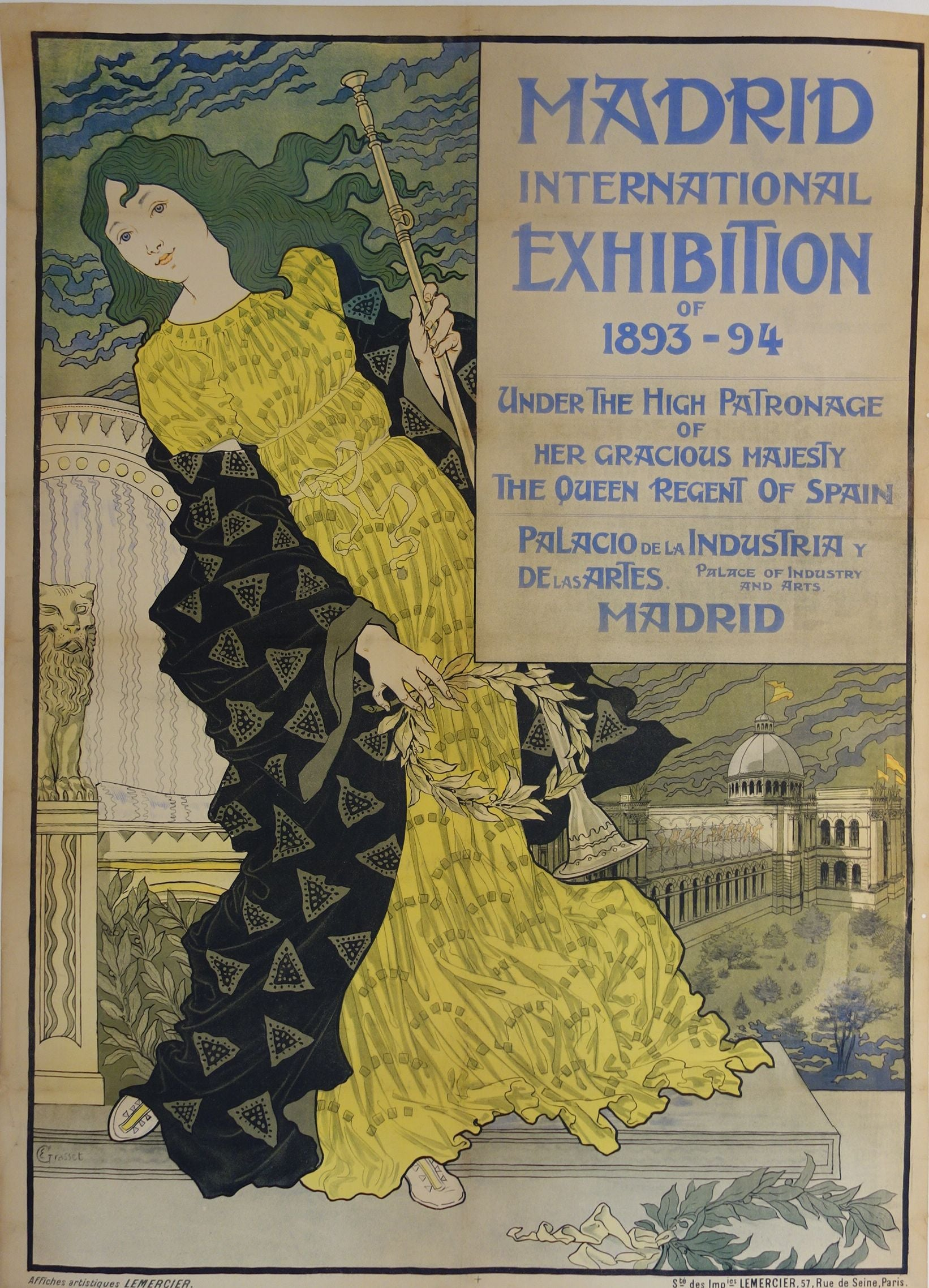 b2ce272714 sold Madrid international exhibition of 1893-94 – Poster Museum