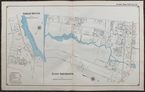 Long Island Index Map No.2 - Plate 36 Great River East Patchogue