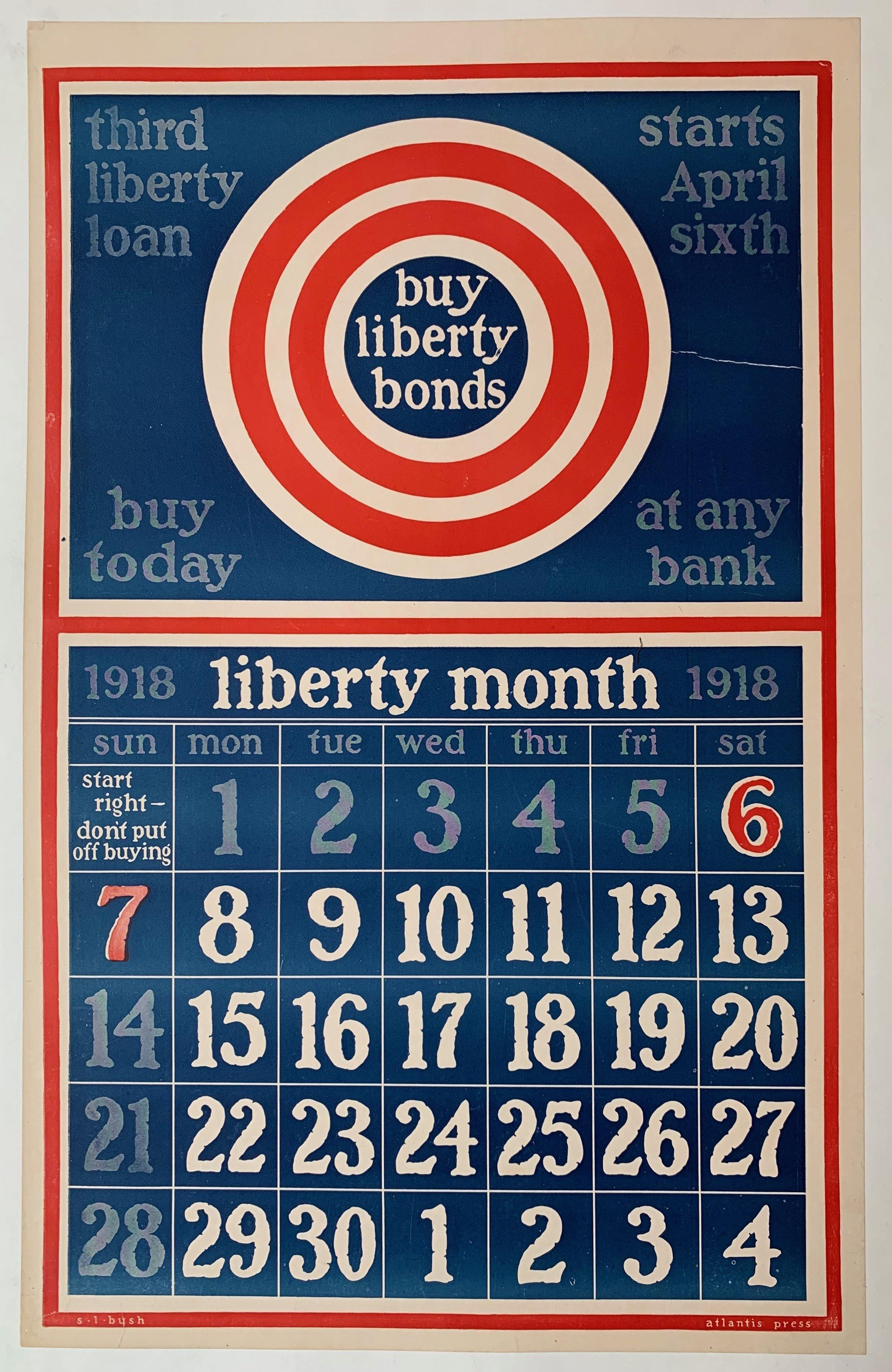 Buy Liberty Bonds Calendar - Poster Museum