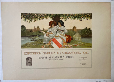 Exposition Nationale a Strasbourg 1919 Poster