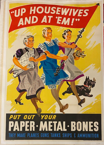 """Up Housewives and At'Em "" War Efforts - Poster Museum"