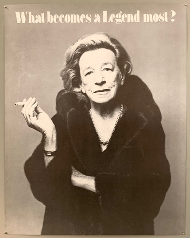 What Becomes a Legend Most? Lillian Hellman Blackglama Poster