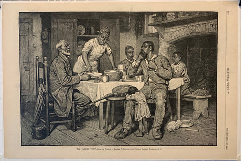 "Harper's Weekly ""The Pastors Visit"""
