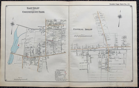 Long Island Index Map No.2 - Plate 25 Map. East Islip Connetquot Park