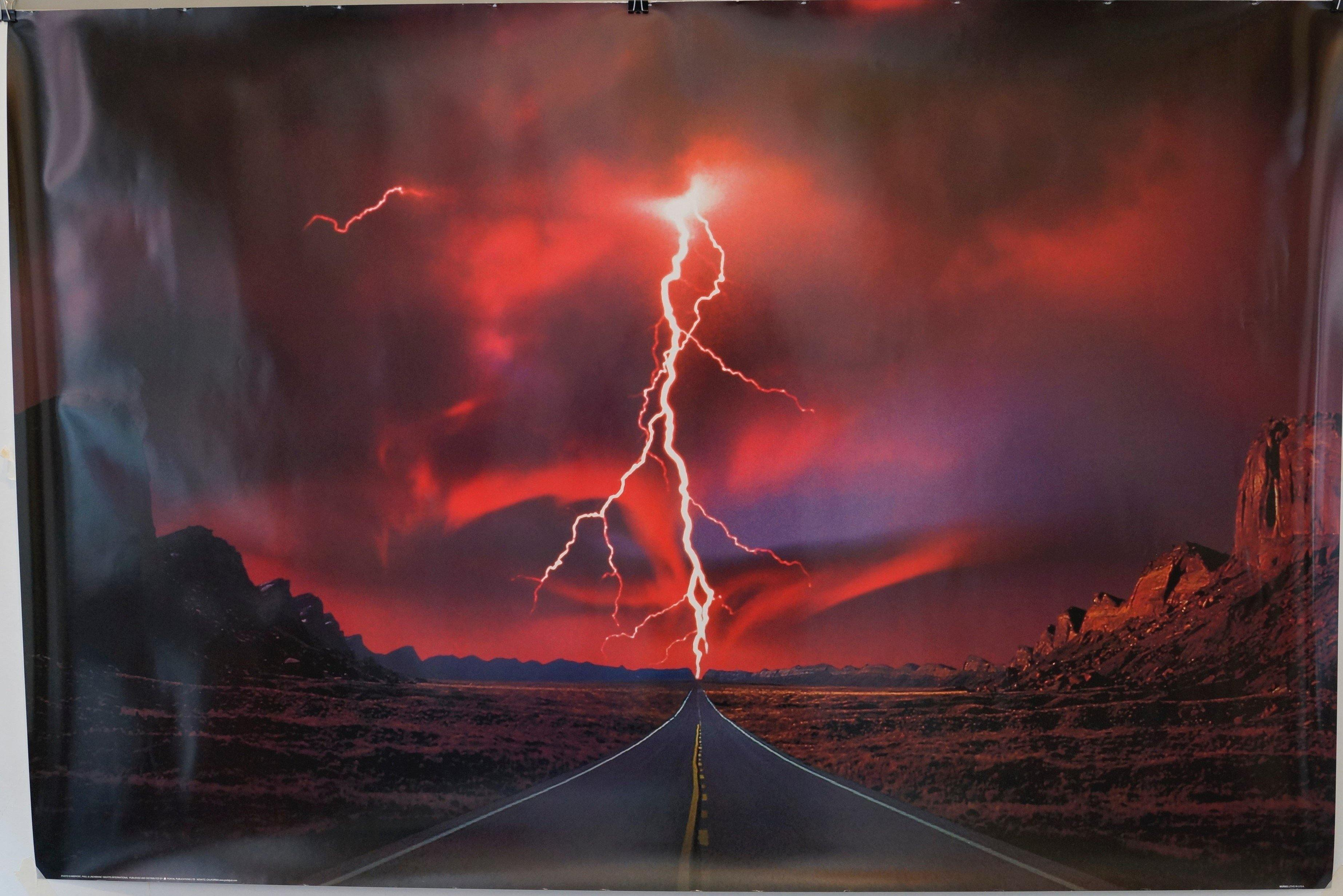 Red Lightning Highway - Poster Museum