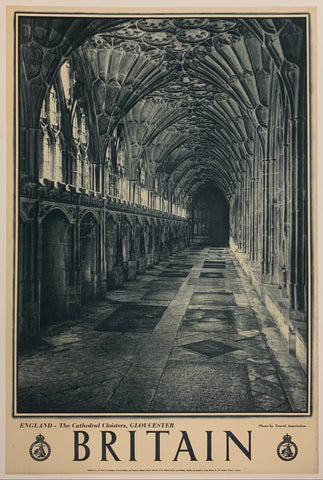 Britain: England - The Cathedral Cloisters, Gloucester""
