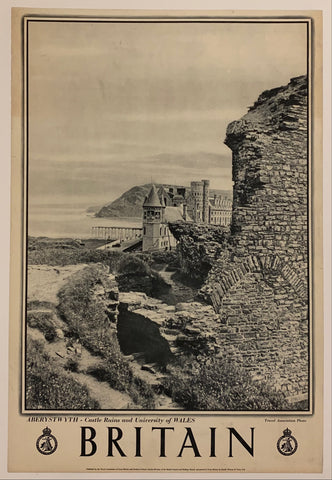 "Britain: ""Aberstwyth - Castle Ruins and University of Wales"""