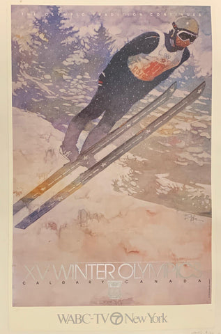 1988 Winter Olympics Poster - Poster Museum