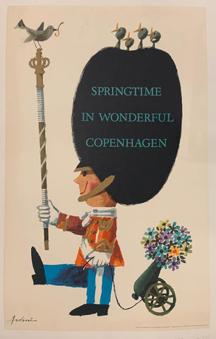 Springtime in Wonderful Copenhagen Travel Poster - Poster Museum