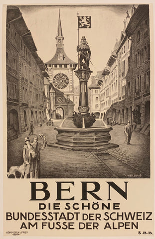 Bern Travel Poster
