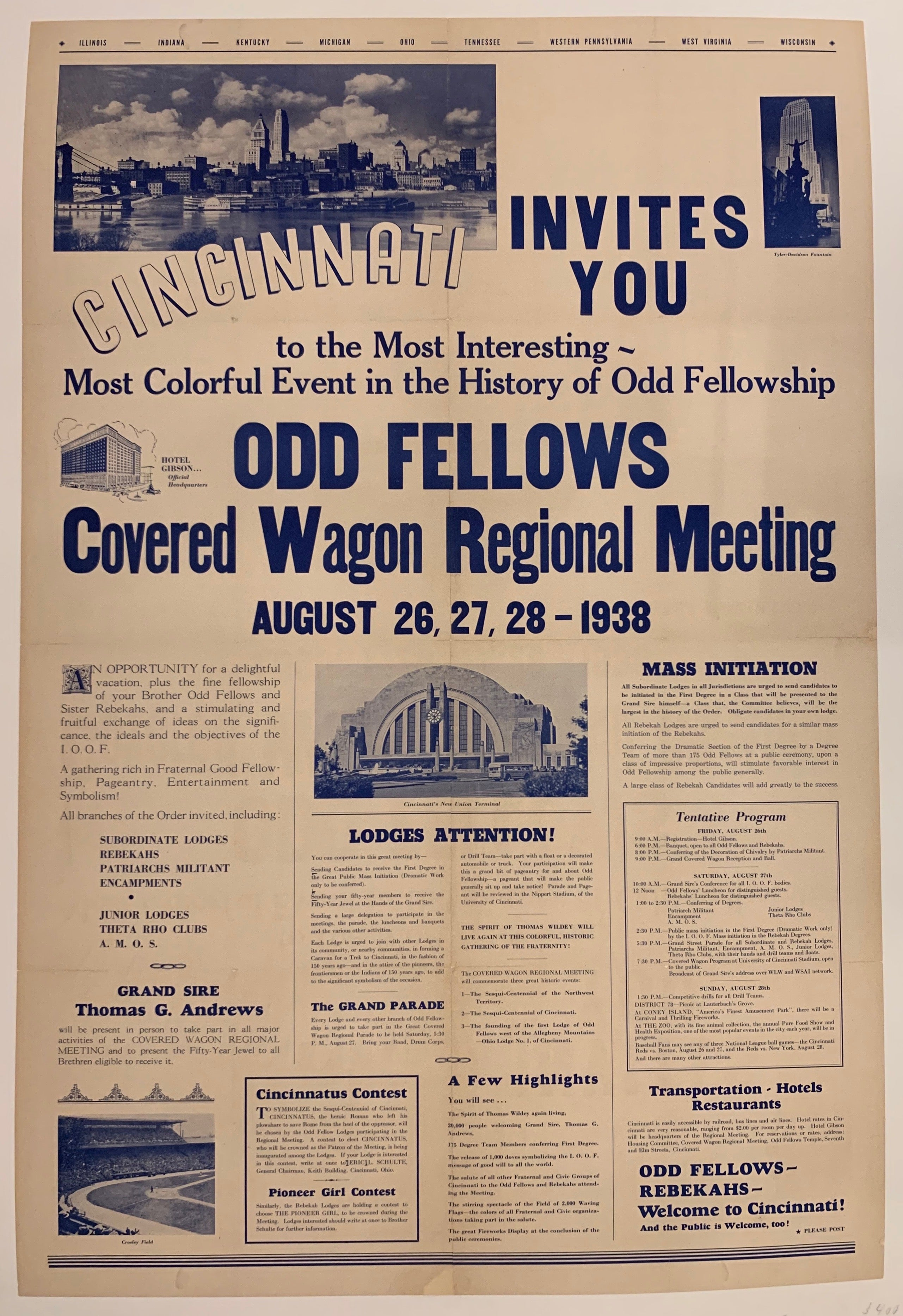 Covered Wagon Regional Meeting Poster