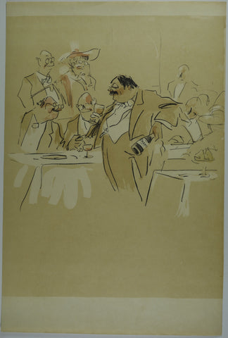 Drinking Celebration Lithograph