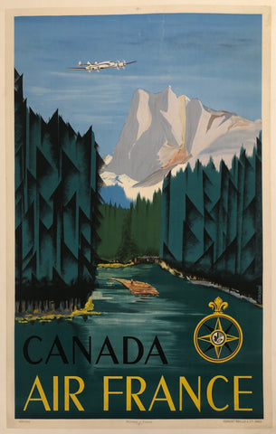 Canada Air France Poster