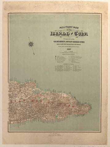 Military Map of the Island of Cuba