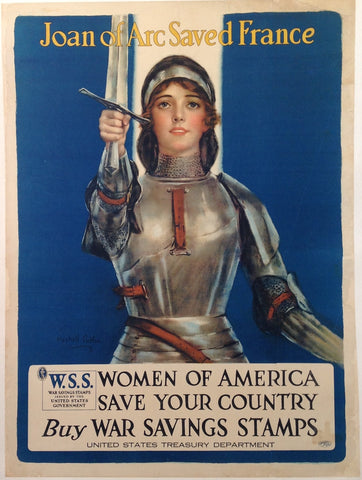 Joan of Arc Saved France Women of America Save Your Country Buy War Savings Stamps