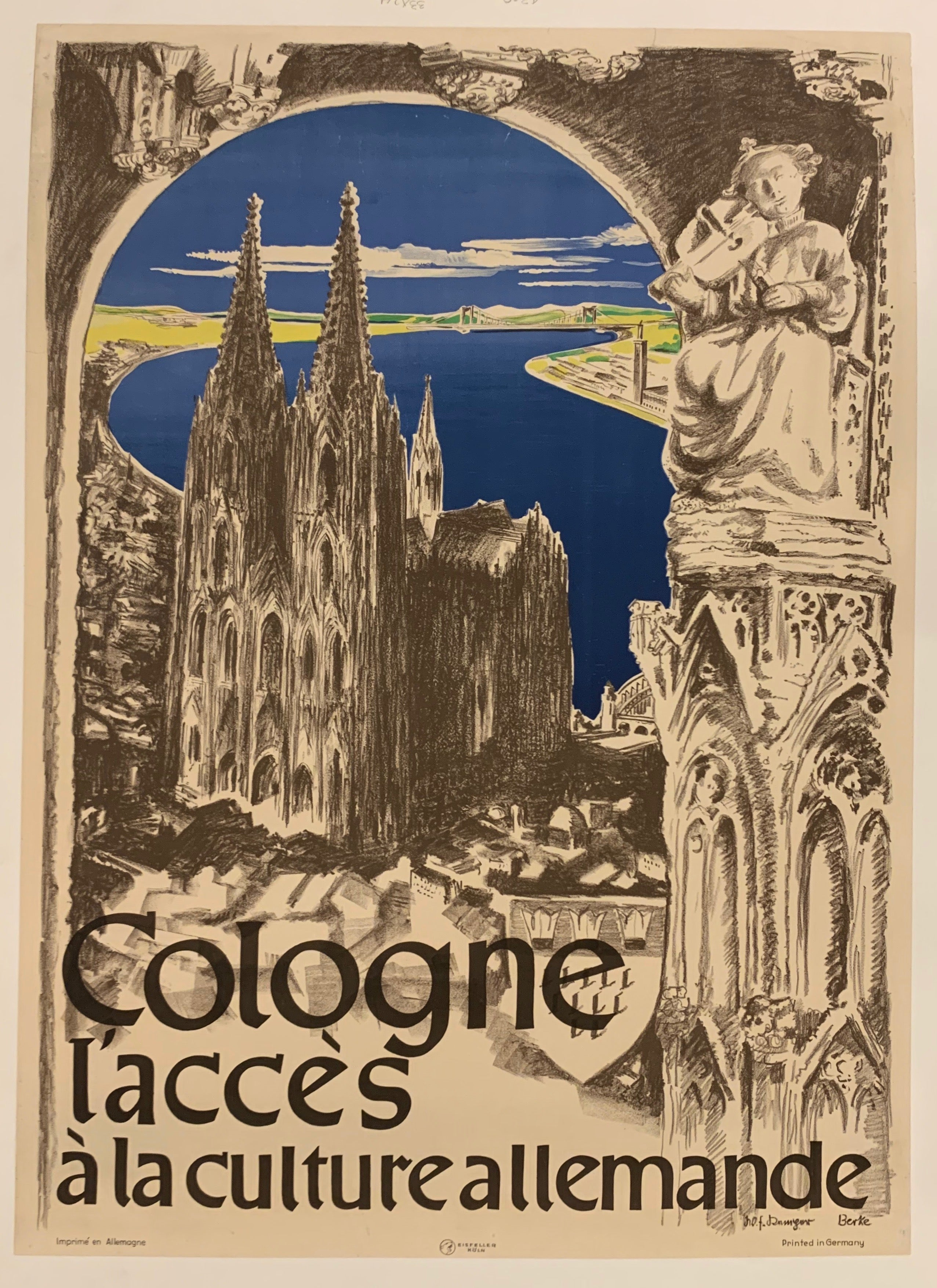 Cologne Travel Poster
