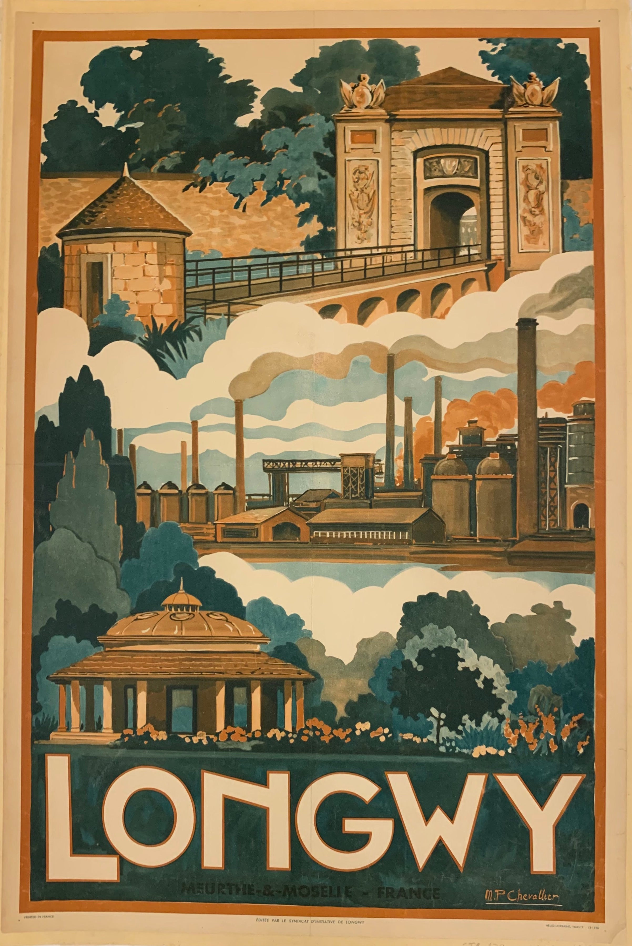 Longwy Travel Poster