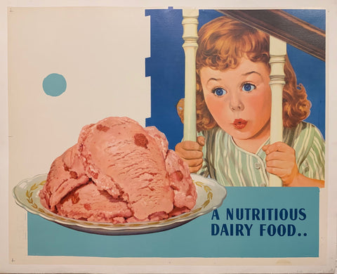 A Nutritious Dairy Food Poster